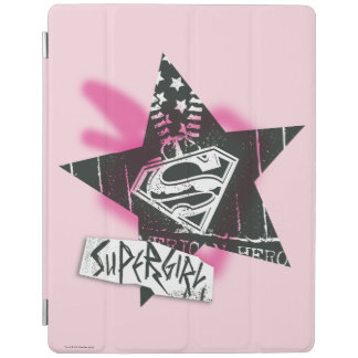 Supergirl Pink Spray Paint Star iPad Cover