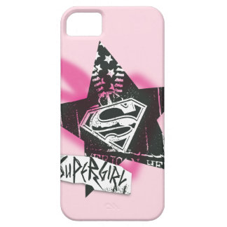 Supergirl Pink Spray Paint Star iPhone 5 Cases