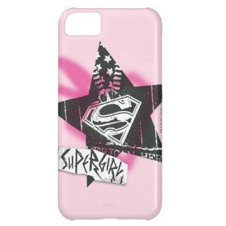Supergirl Pink Spray Paint Star iPhone 5C Case