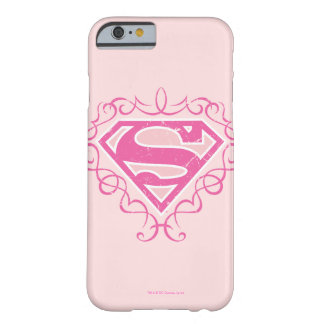 Supergirl Pink Stripes Barely There iPhone 6 Case