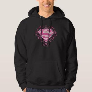 Supergirl Pink Stripes Hoodie
