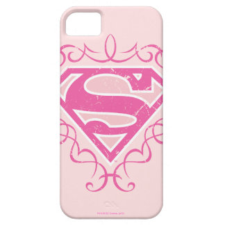 Supergirl Pink Stripes iPhone 5 Cases