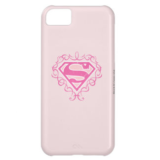 Supergirl Pink Stripes iPhone 5C Case