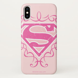 Supergirl Pink Stripes iPhone X Case