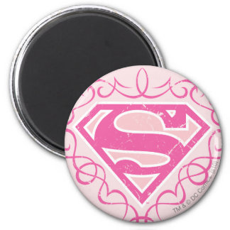 Supergirl Pink Stripes Magnet