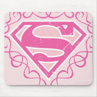 Supergirl Pink Stripes Mouse Mat