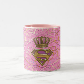 Supergirl Pink Two-Tone Coffee Mug