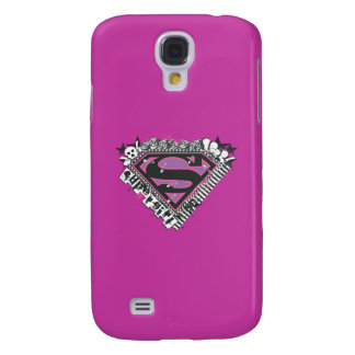 Supergirl Pins Logo Galaxy S4 Case