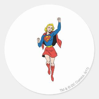Supergirl Pose 4 Classic Round Sticker