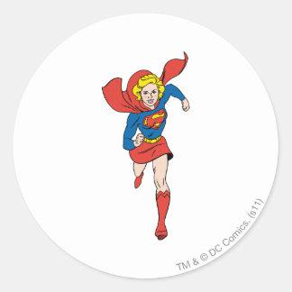 Supergirl Pose 8 Classic Round Sticker