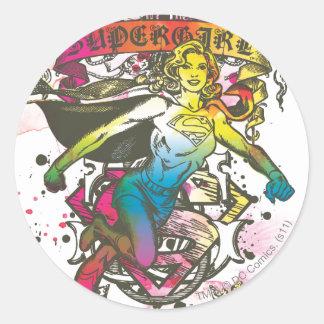 Supergirl Power Classic Round Sticker