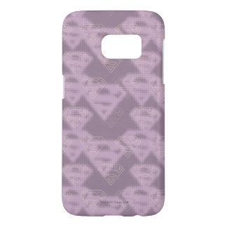 Supergirl Purple Halftone Logo