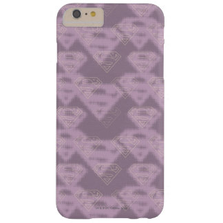 Supergirl Purple Halftone Logo Barely There iPhone 6 Plus Case