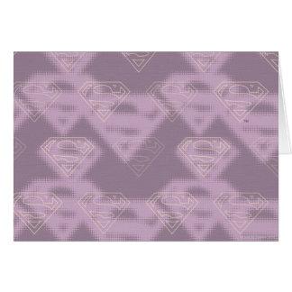 Supergirl Purple Halftone Logo Card