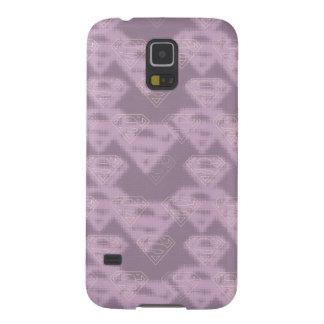 Supergirl Purple Halftone Logo Case For Galaxy S5