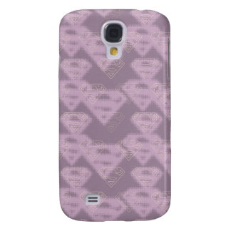 Supergirl Purple Halftone Logo Galaxy S4 Case