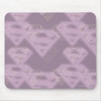 Supergirl Purple Halftone Logo Mouse Mat