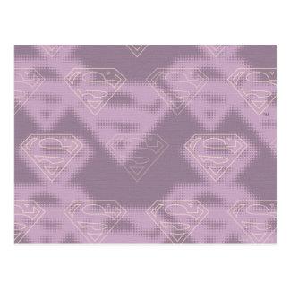 Supergirl Purple Halftone Logo Postcard