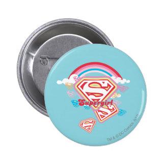Supergirl Rainbow 6 Cm Round Badge