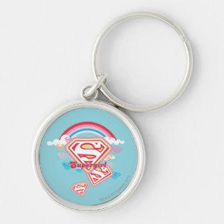 Supergirl Rainbow Key Ring