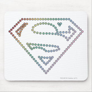 Supergirl Rainbow Outline Logo Mouse Mat