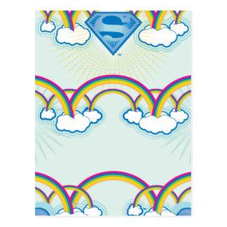 Supergirl Rainbow Pattern Postcard