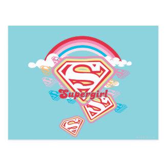 Supergirl Rainbow Postcard