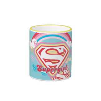 Supergirl Rainbow Ringer Mug