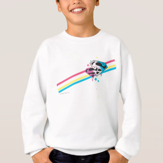 Supergirl Rainbow Stripes Sweatshirt