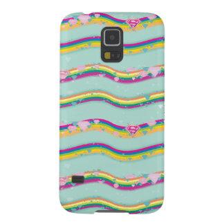 Supergirl Rainbow Waves Green Galaxy S5 Case