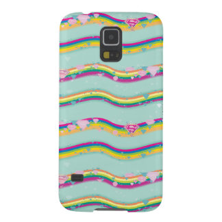 Supergirl Rainbow Waves Green Galaxy S5 Cover
