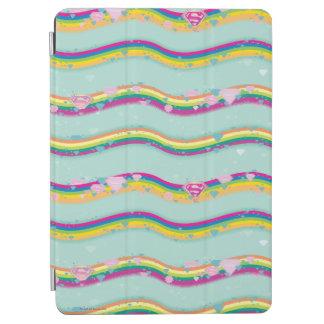 Supergirl Rainbow Waves Green iPad Air Cover