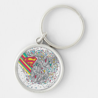 Supergirl Random World 2 Silver-Colored Round Key Ring
