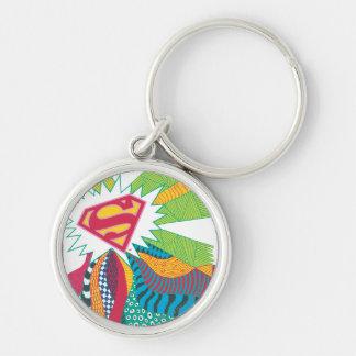 Supergirl Random World 3 Silver-Colored Round Key Ring