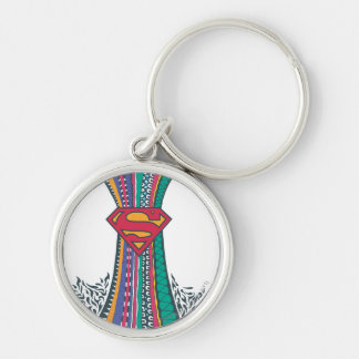 Supergirl Random World 4 Silver-Colored Round Key Ring