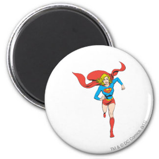 Supergirl Ready to Go 6 Cm Round Magnet