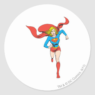 Supergirl Ready to Go Classic Round Sticker