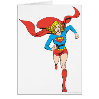 Supergirl Ready to Go Greeting Card