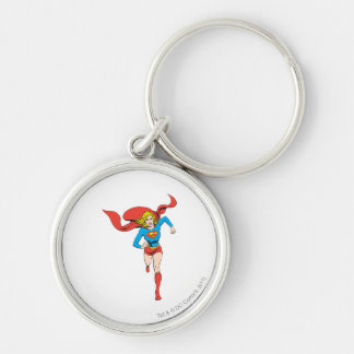 Supergirl Ready to Go Silver-Colored Round Key Ring