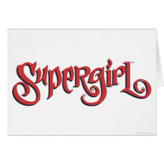 Supergirl Red Logo Card