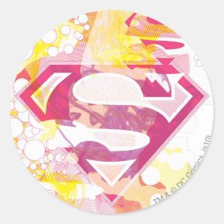 Supergirl Retro Logo Classic Round Sticker