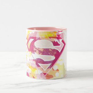 Supergirl Retro Logo Two-Tone Mug
