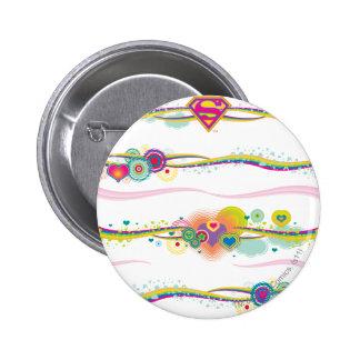 Supergirl Retro Rainbow 6 Cm Round Badge