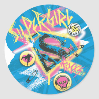 Supergirl Rocks Classic Round Sticker