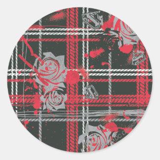 Supergirl Roses Classic Round Sticker