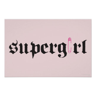 Supergirl Safety Pin Letter Poster