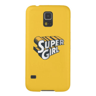 Supergirl Silver and Orange Logo Galaxy S5 Covers