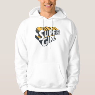 Supergirl Silver and Orange Logo Hoodie