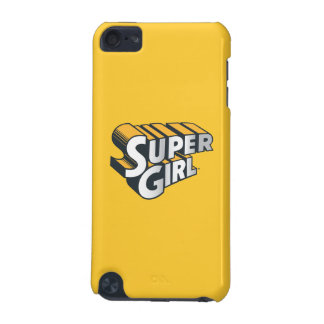 Supergirl Silver and Orange Logo iPod Touch 5G Cases