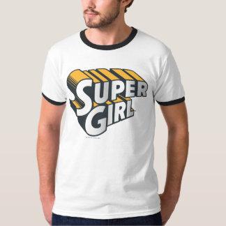 Supergirl Silver and Orange Logo T-Shirt